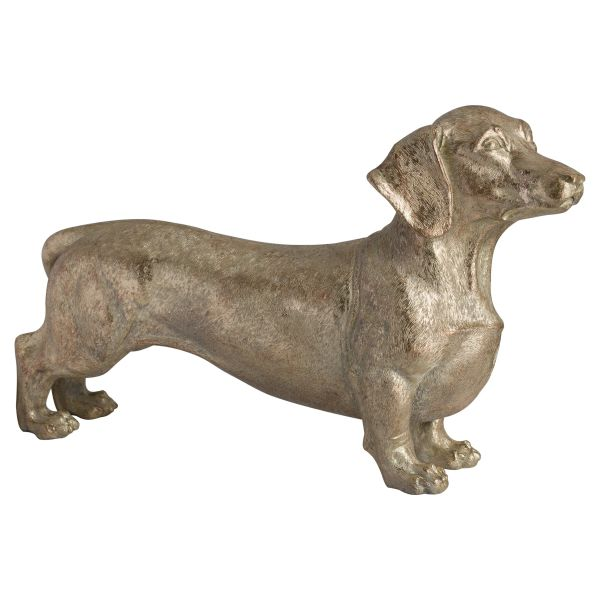 Bert The Dachshund Metallic Ornament
