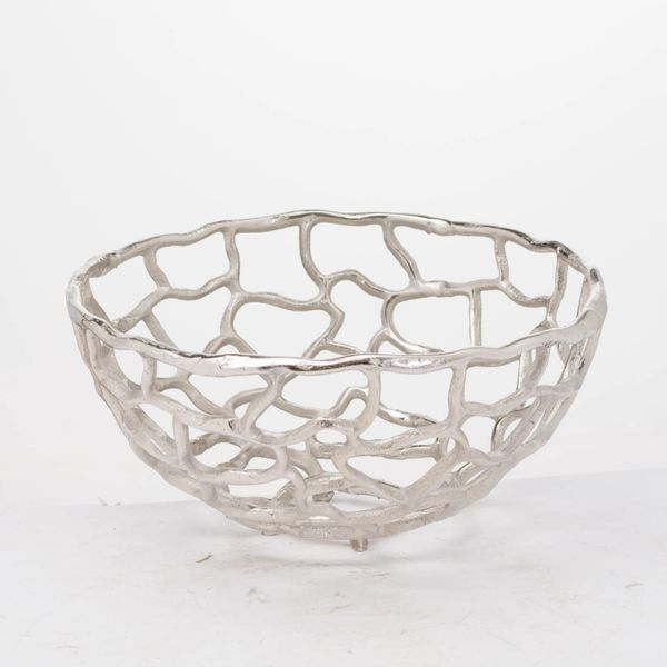 Ohlson Silver Perforated Coral Inspired Bowl - choose size
