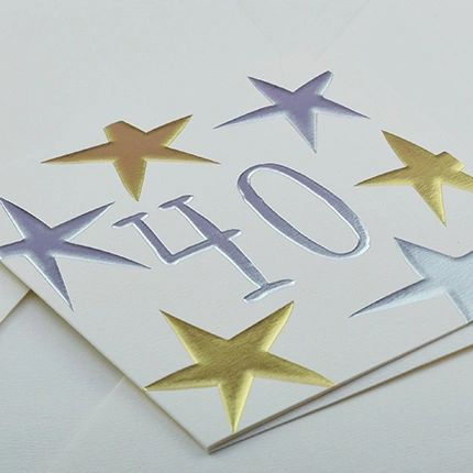 40th Birthday Card by Wendy Jones-Blackett Q935