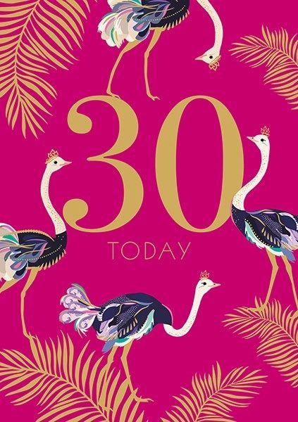 30th Birthday Card by Sarah Miller SAMA03