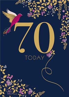 70th Birthday Card by Sarah Miller