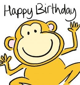Monkey Birthday Card bsh044
