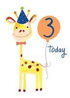 Giraffe 3 Card