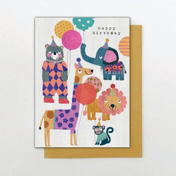 Animals Balloons Card