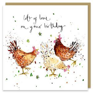 Birthday Hens Card FF108