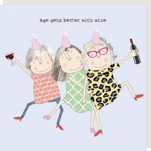 Age Wine girl card by Rosie made a thing