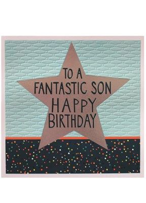 Fantastic Son Happy Birthday Jumbo Card jj1858