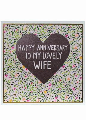 Wife Large Anniversary Card