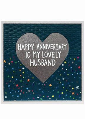Husband Anniversary Card Large