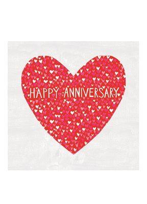 Happy Anniversary Hearts Large Card