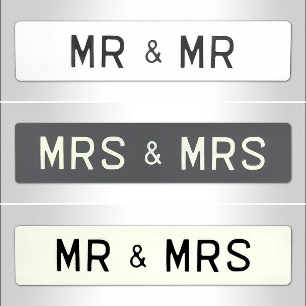 "Create Your Own Sign - Mr & Mrs Size - 20""3/4 by 4""1/2"