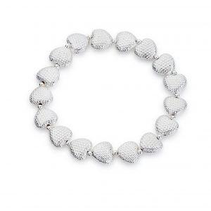 Mesh detail heart bracelet