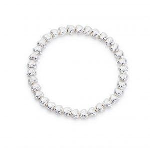 Beaded edge heart bracelet