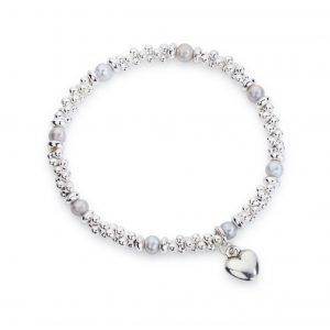 Jacks and grey pearl bracelet