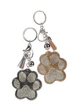 High Five Pawprint Keyring / Bag Charm (choose)
