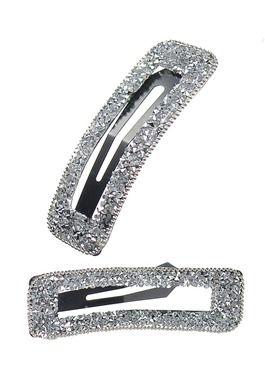 Rectangular 'Frame' Sparkle Clip - Silver