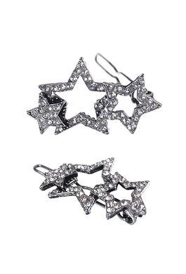 Shooting Stars Clip x 2pcs - A.Silver/Clear
