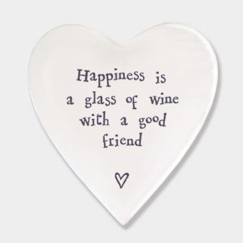 Happiness is a glass of wine with a good friend coaster