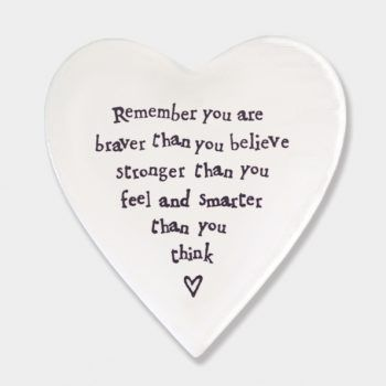 Remember you are braver... Ceramic Coaster