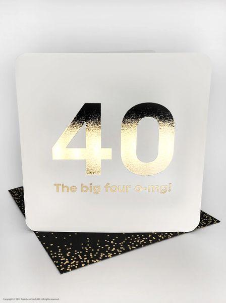 40TH (GOLD FOILED) BIRTHDAY AGE CARD QU030