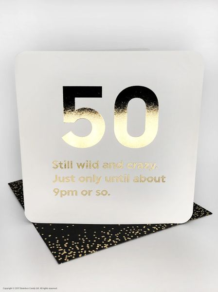 50TH BIRTHDAY (GOLD FOILED) AGE CARD