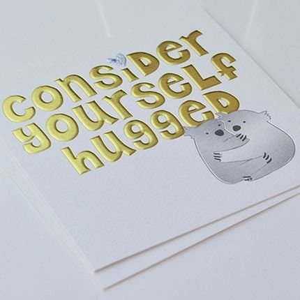 Consider Yourself Hugged Card Q321