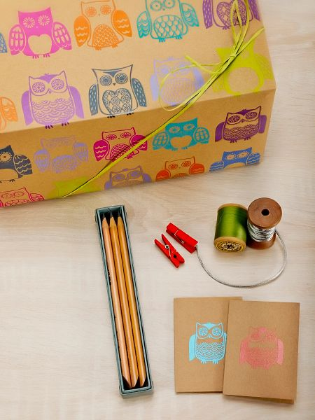 Owls Gift Wrap