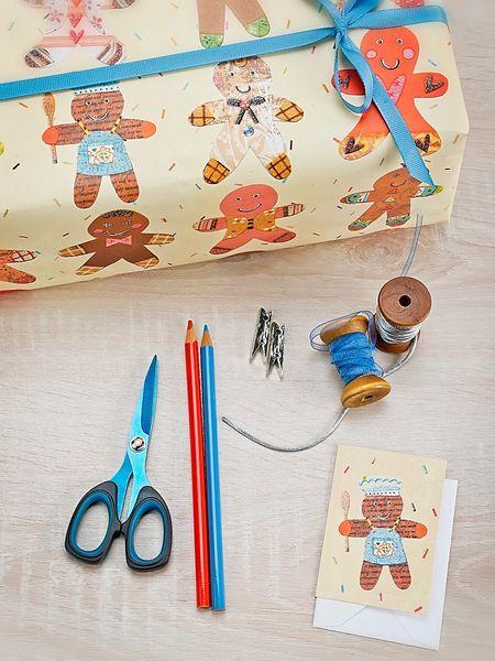 Gingerbread Men Gift Wrap