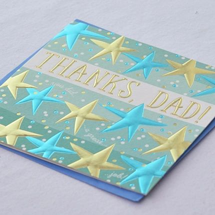 Thanks Dad (you did a great job) Card
