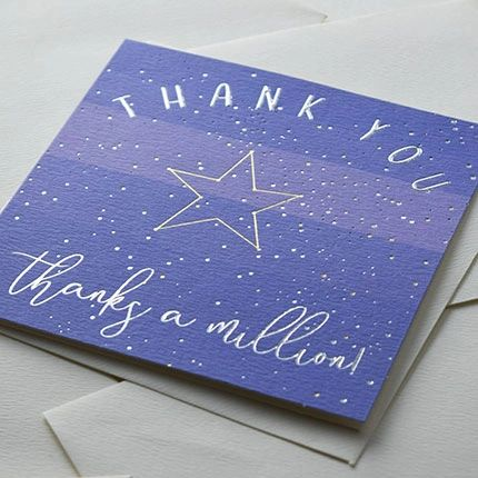 Thank You 'Thanks a million' Card