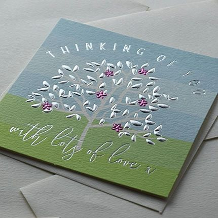 Thinking of You Card - with lots of love q1089