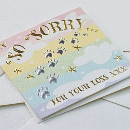 So Sorry for your loss card