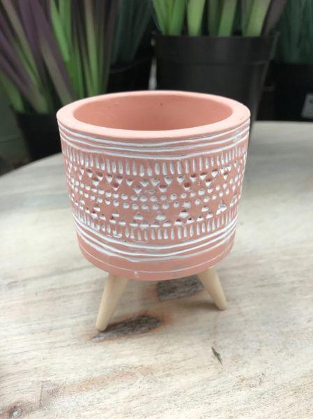 Light Terracotta Pot on Legs