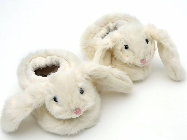 Bunny Baby Slippers Cream