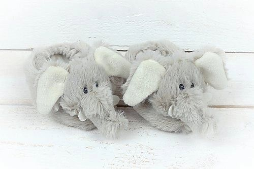 Elephant Baby Slippers Boxed