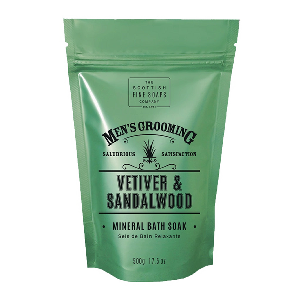 VETIVER & SANDALWOOD MINERAL BATH SOAK