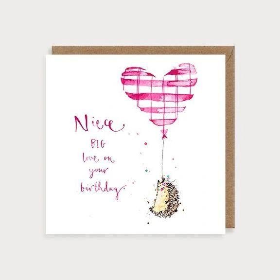 Niece Hedgehog Birthday Card REL09