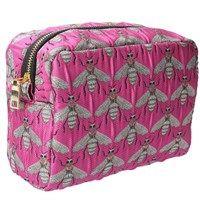 Jacquard Cosmetic Bag 23cm - Fuchsia Bees
