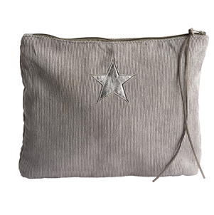 Corduroy star make-up bag