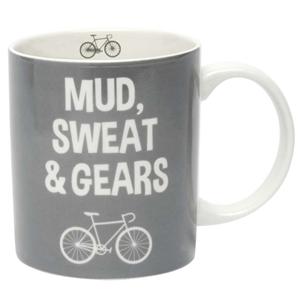'Mud, sweat and gears' mug