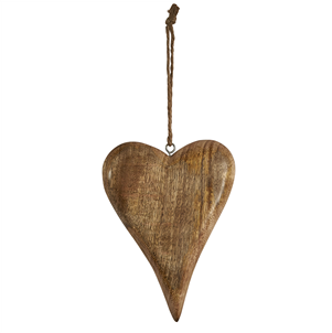 Mini tapered wooden heart