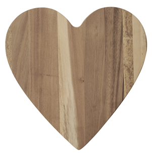 Acacia wood heart shape chopping / serving board