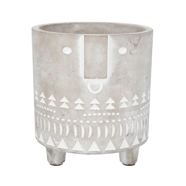Concrete Face Pot Cover, Med