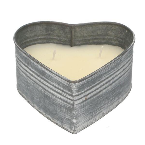 Tin Heart Citronella Candle