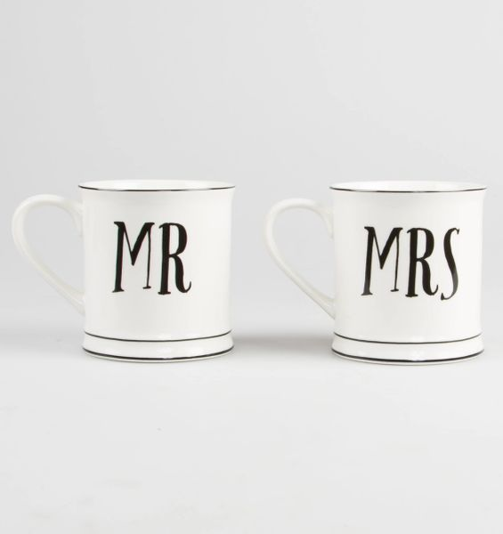 Mr & Mrs Mugs (pair) Boxed, Choose - Mr&Mrs, Mr&Mr, Mrs&Mrs