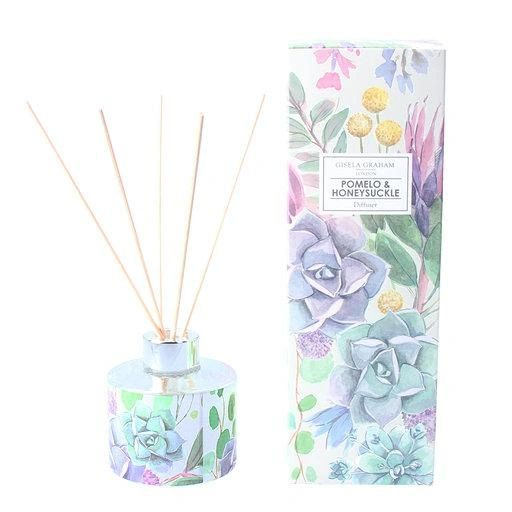Pomelo and Honeysuckle Fragrance Diffuser with Desert Blooms Design