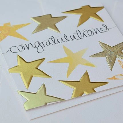 Stars Congratulations Card