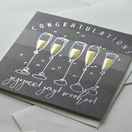Congratulations Flutes Card