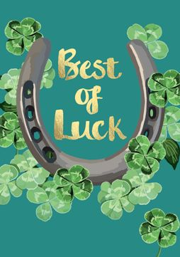 Best of Luck Horseshoe Card