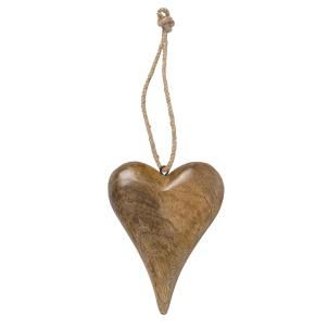 Tapered wooden heart decoration